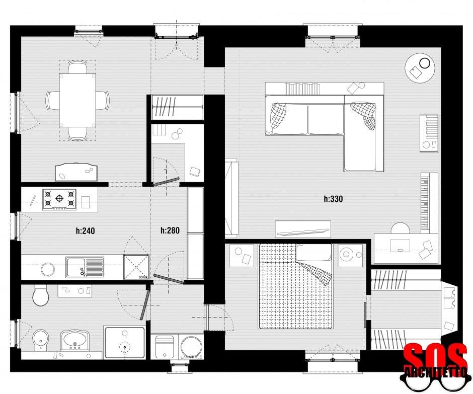 Casa progetto 005 sos architetto online sos architetto for Architetto on line