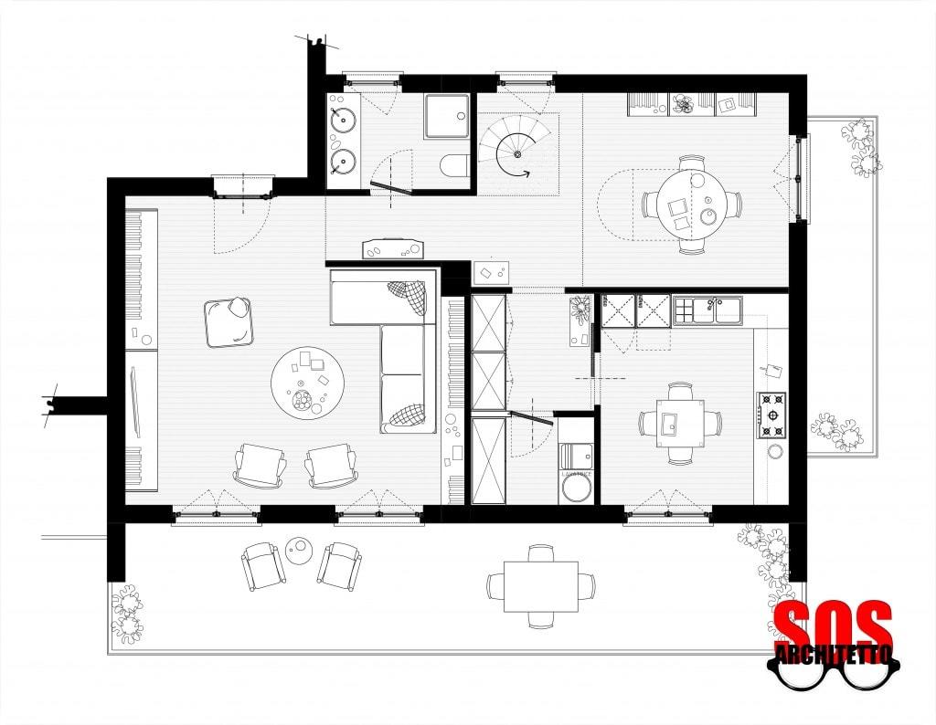 Casa progetto 011 sos architetto online sos architetto for Progetto online casa