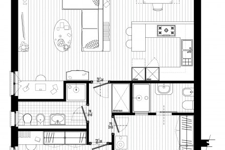 Progetto casa daniele salvati progetto casa with progetto for Casa moderna pianta