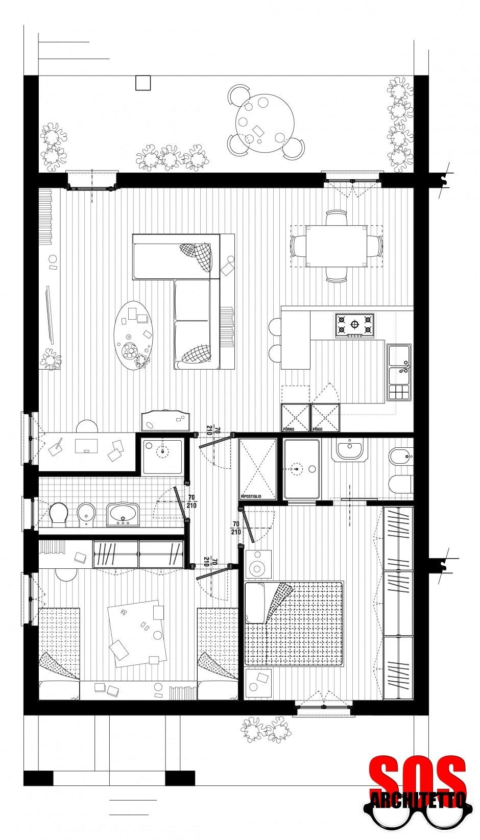 Casa progetto 007 sos architetto online sos architetto for Progetto online casa