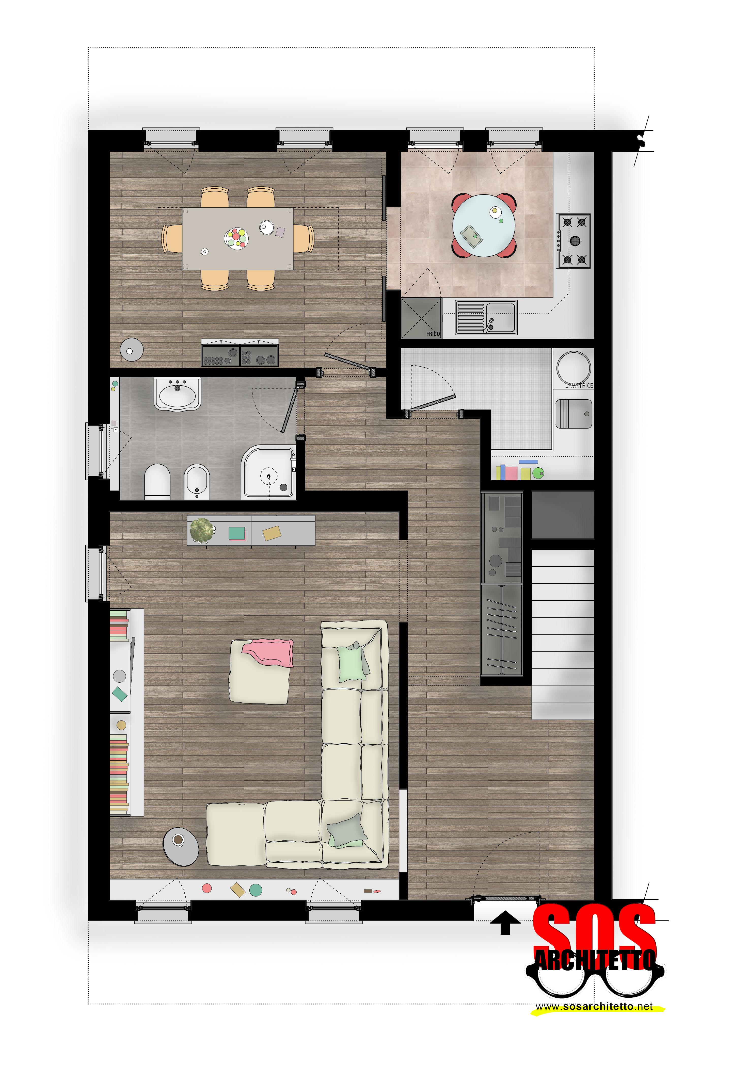 Casa progetto 014 sos architetto online andrea vertua - Progetto bagno online ...