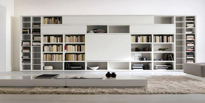 Mobile Libreria Soggiorno.127 Librerie Da Soggiorno Libreria Design In Legno Odom