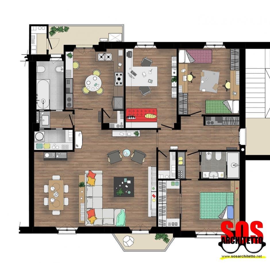 Arredamento casa progetto 020 sos architetto andrea for Progetto casa arredamenti