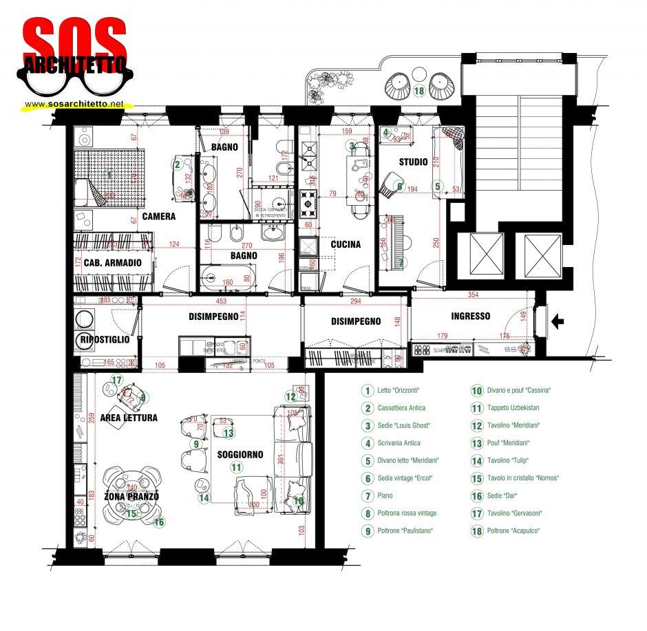 Arredamento casa progetto 022 sos architetto andrea for Progetto casa arredamenti