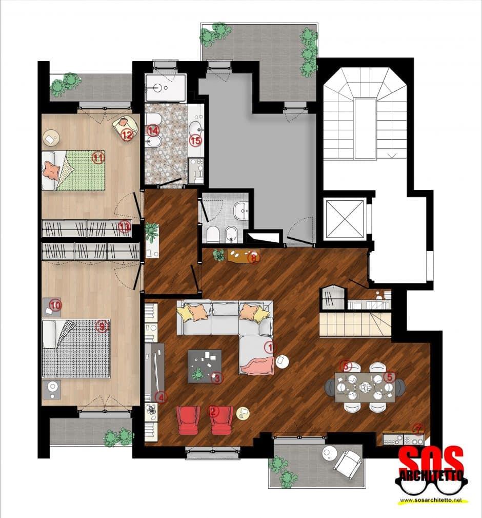 Arredamento casa progetto 023 sos architetto andrea for Progetto casa arredamenti