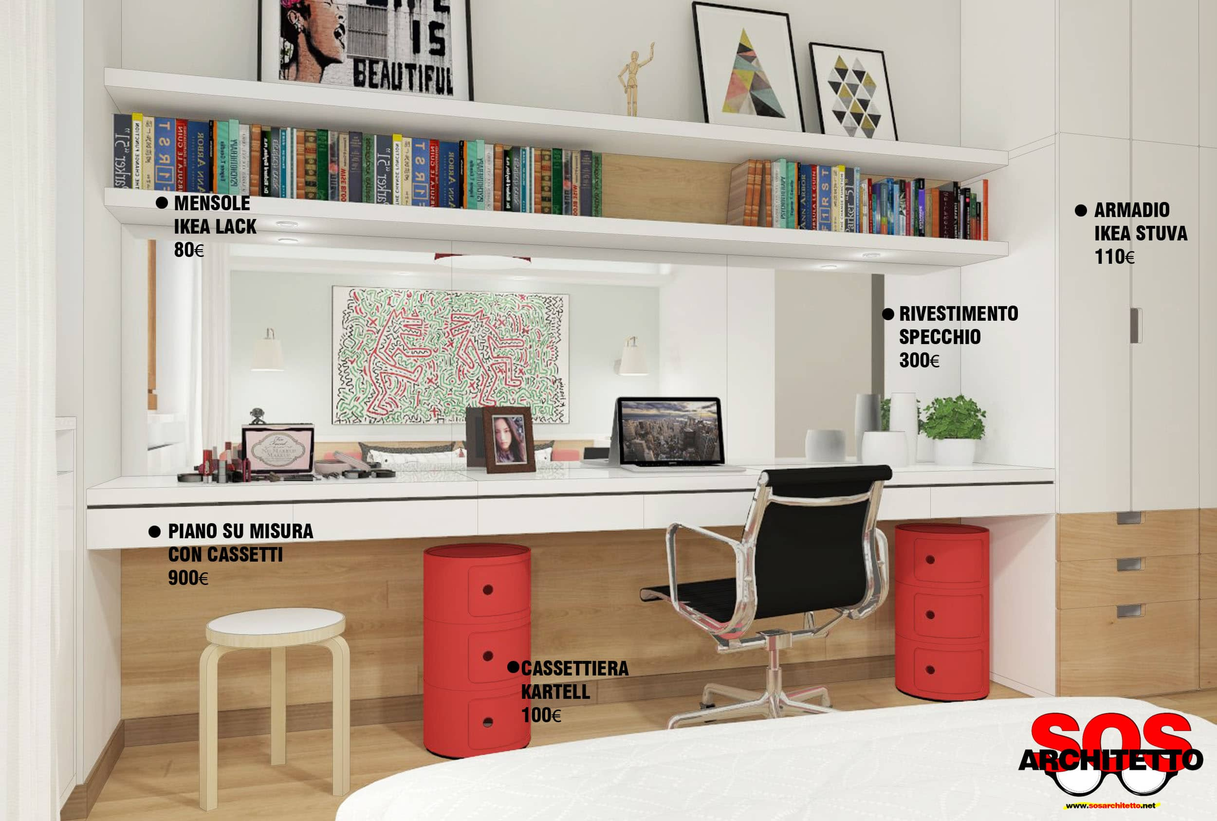 Scrivania di design function a parete scrivania for Ufficio architetto design
