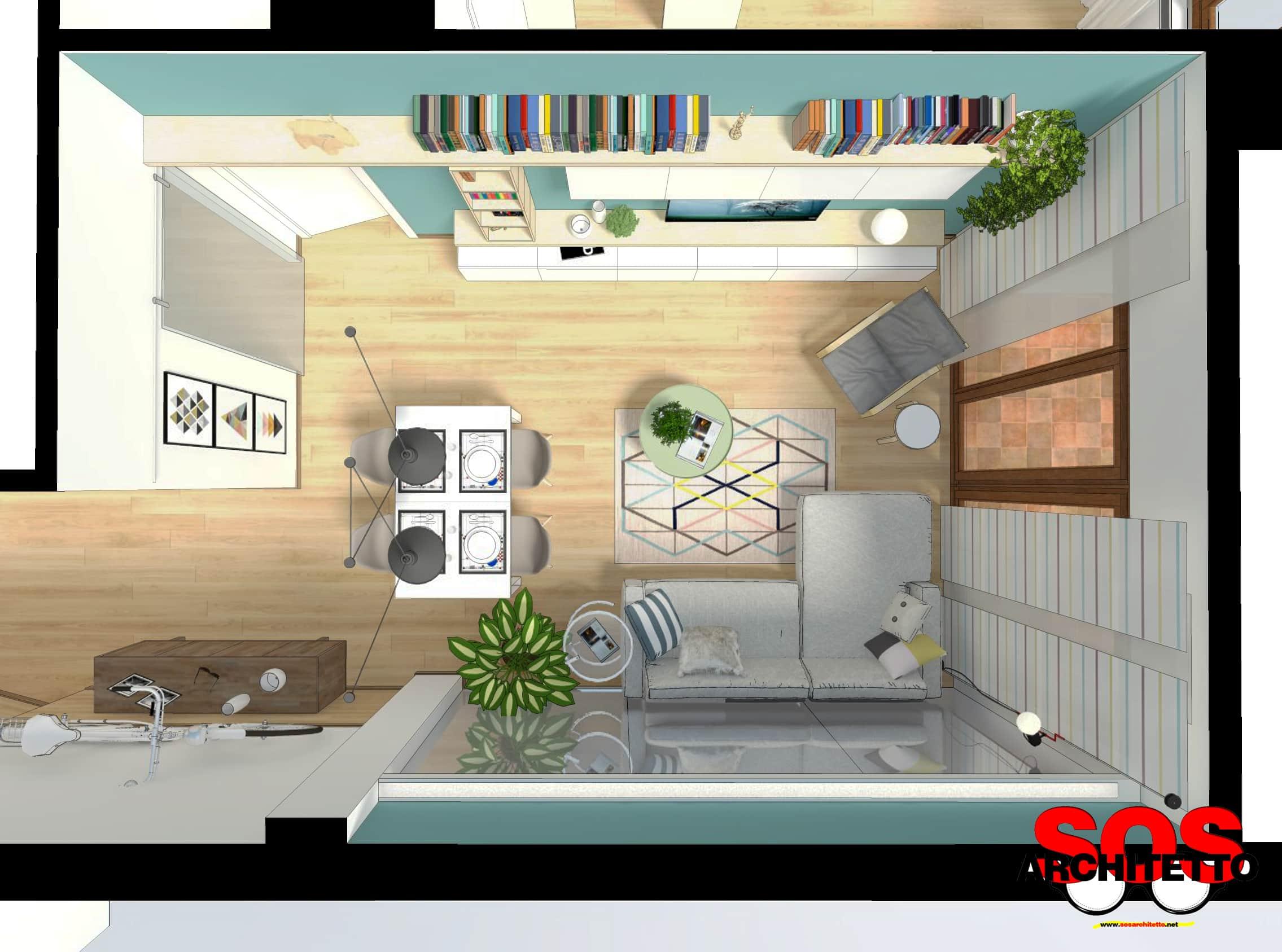 Rivoluzionare un soggiorno con l\'arredamento giusto - SOS Architetto