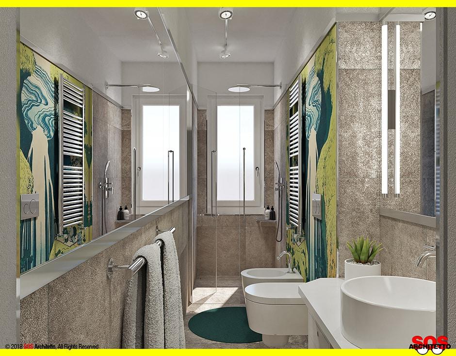 Bagno lungo e stretto come arredarlo sos architetto for Elementi bagno