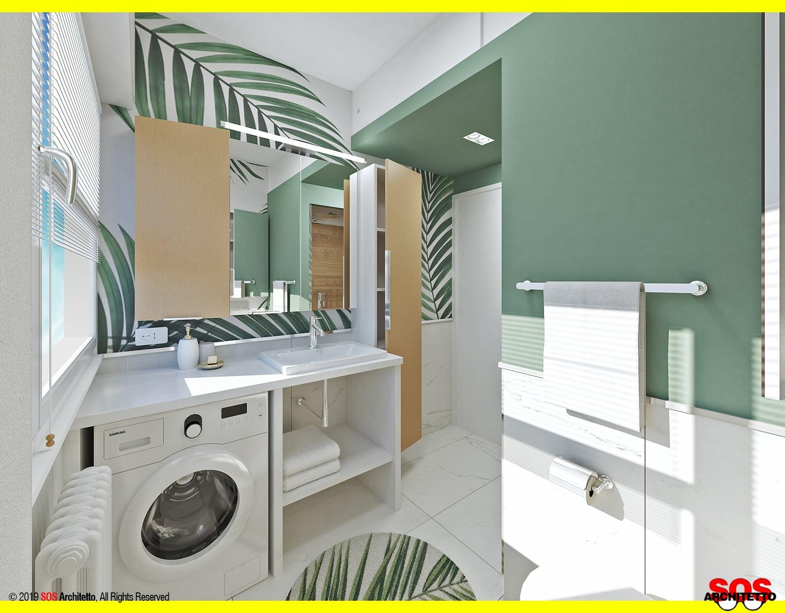 Immagini Di Bagni Piccoli bagno piccolo con lavatrice - idee low cost - sos architetto
