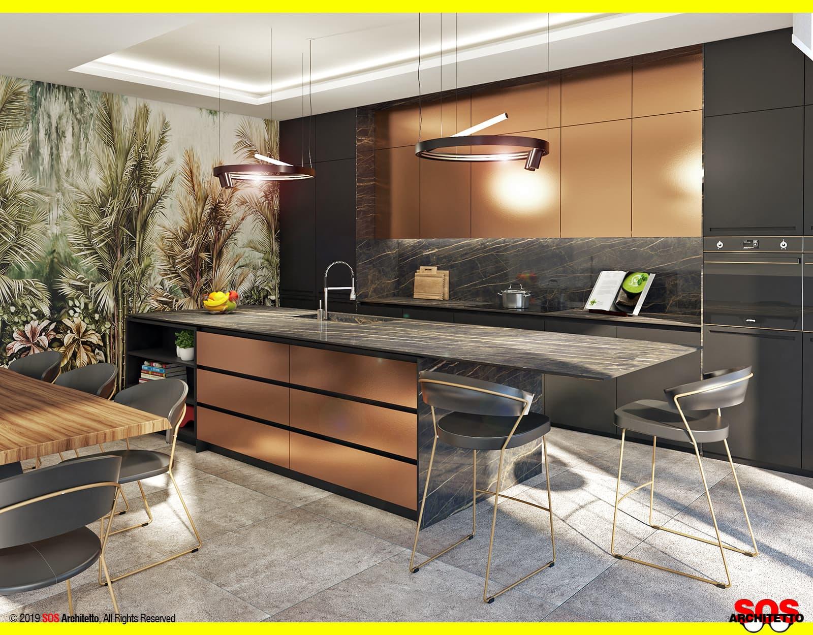 Misure Standard Top Cucina piano in laminam: costi e difetti - sos architetto