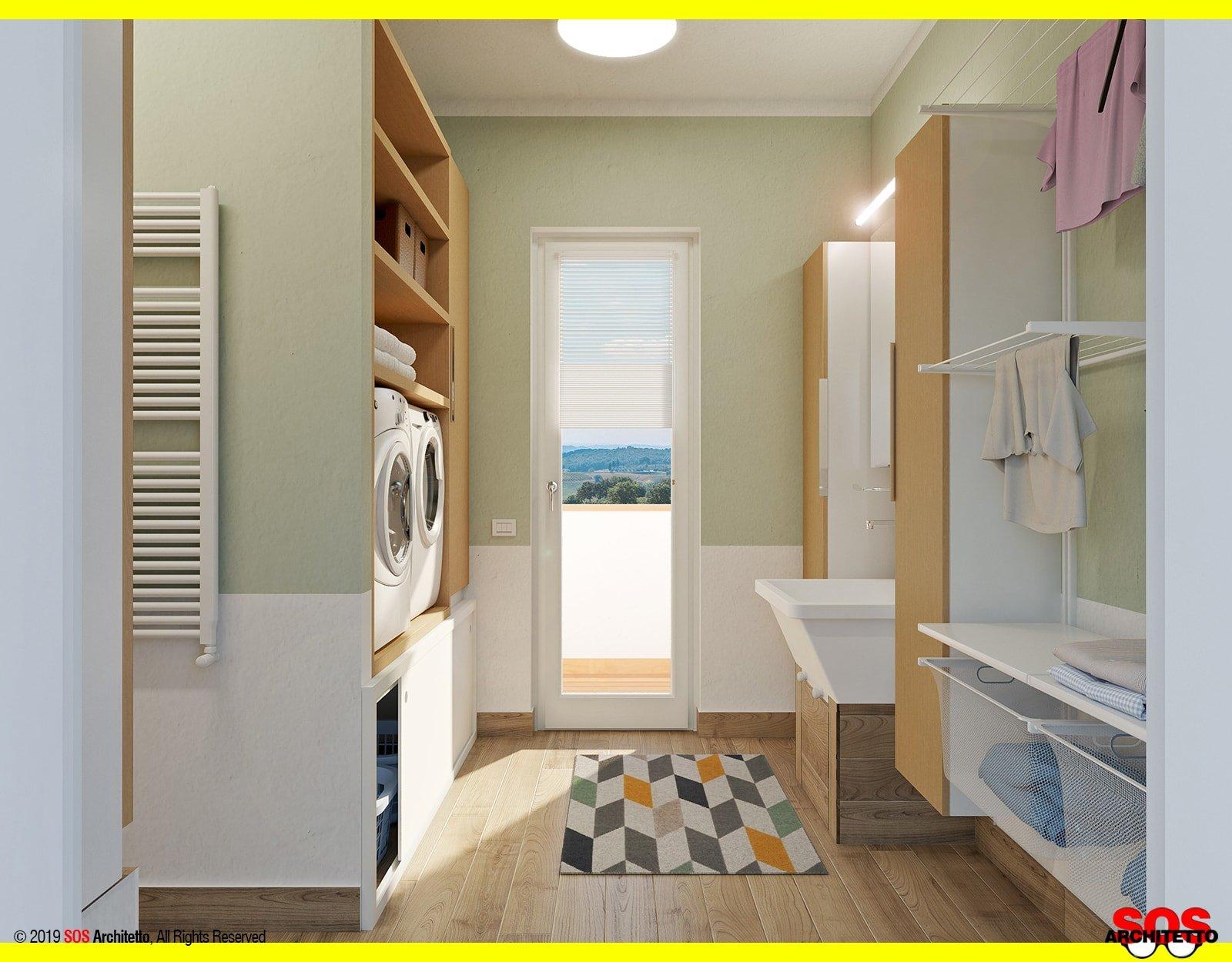 Arredare Casa Gratis Online progetto lavanderia casa: organizzazione - sos architetto