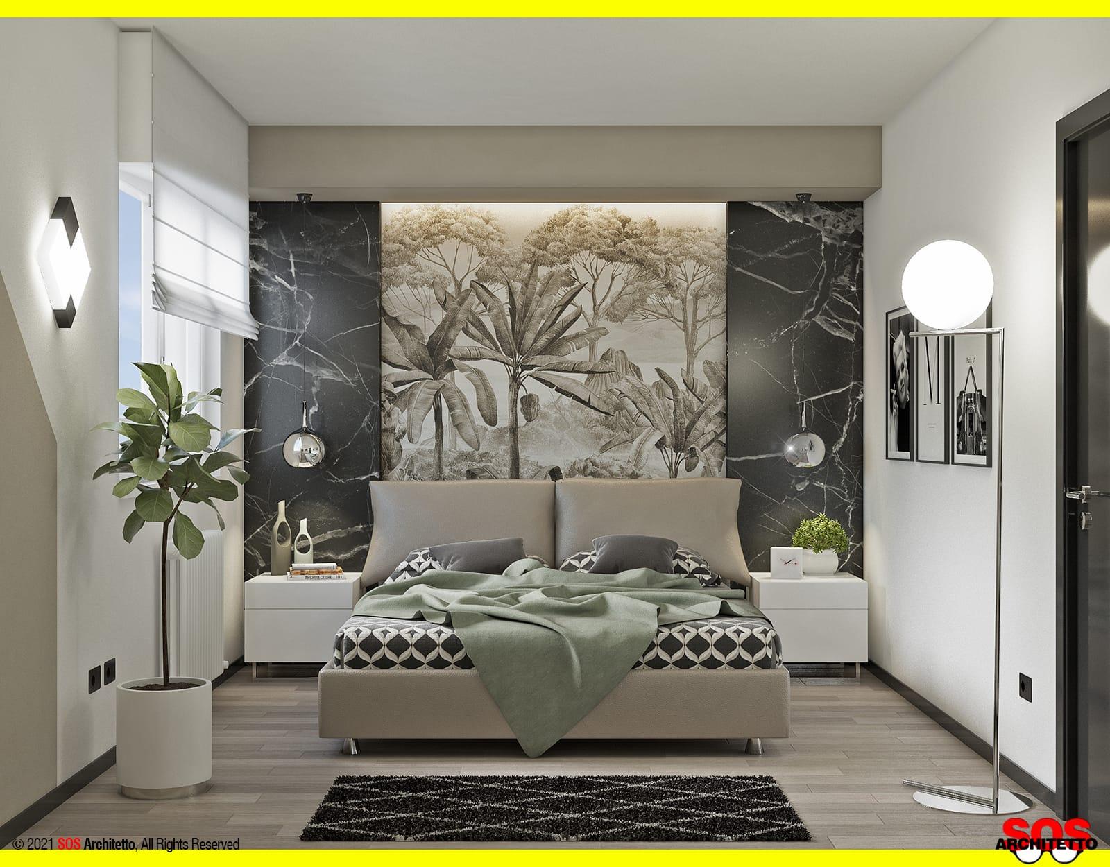 camera-parete-dietro-letto-led